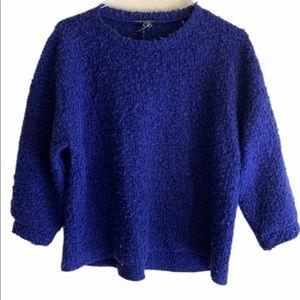 Chelsea & theodore woman's wool sweater  blue sz S